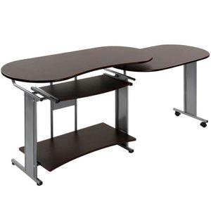 BUREAU  Bureau d'Angle Forme L Table d'Ordinateur PC Lapto