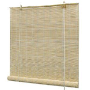 STORE DE FENÊTRE Store enrouleur bambou naturel 120 x 160 cm