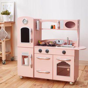 EVIER DE CUISINE Teamson Kids Cuisine 1 Pièce Rose Country Living M