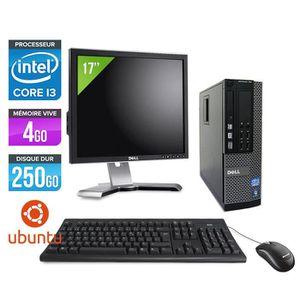 UNITÉ CENTRALE + ÉCRAN PC Dell 790 SFF - Core i3 - 4Go - Linux + Ecran 17
