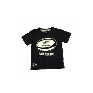 MAILLOT DE RUGBY Tee-shirt rugby All Blacks ballon enfant - All Bla