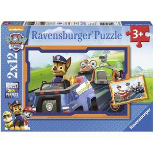 PUZZLE PAT'PATROUILLE Puzzle En action 2x12 pcs