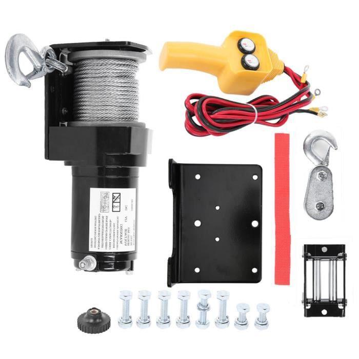 RHO 12V treuil électrique résistant 2000lb treuil à télécommande câble de remorque camion de remorque