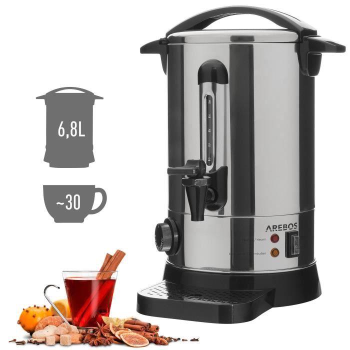 AREBOS Distributeur de boissons chaudes / Électrique / avec Robinet / Thermostat / Bac de récupération / 30-110°C / Conservation à c