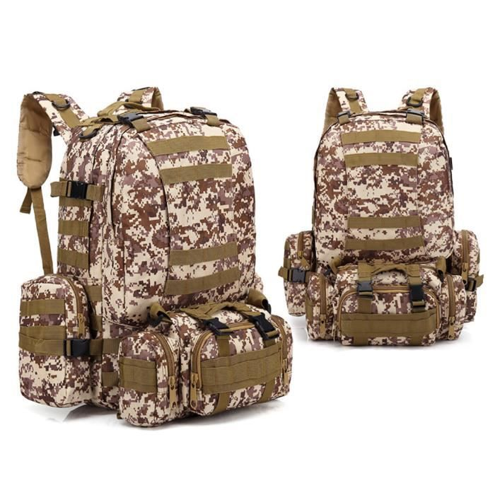 55L Molle Outdoor Bag Camping Randonnée Trekking Sac à dos BRF90606010B_7274