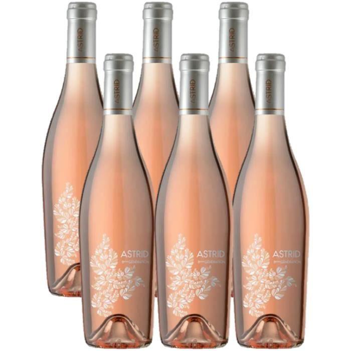 LOT DE 6 - Astrid 8ème génération - Vin rosé - IGP Méditerranée
