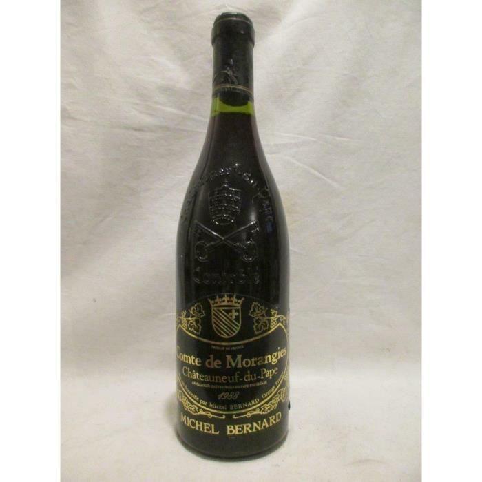 châteauneuf du pape michel bernard comte de morangie rouge 1988 - rhône