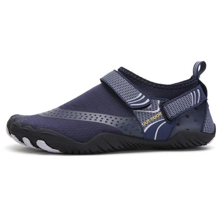 A021 blue 43 -Vanmie – chaussures de Sport aquatique pour hommes et femmes, baskets de plage, nu pieds pour la natation, taille 38 à