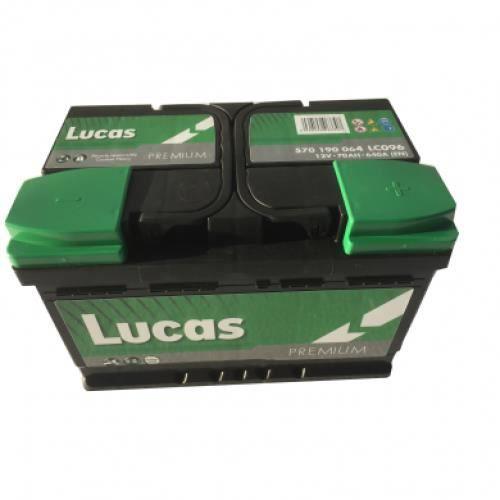 Batterie de démarrage Lucas Premium LB3 LC096 12V 70Ah / 640A