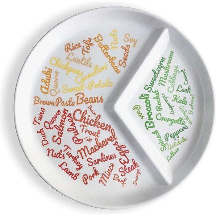 Amaigrissement et perte de poids Assiette divisée pour un contrôle facile des portions - Magnifiquement conçu Contrôle d 553535