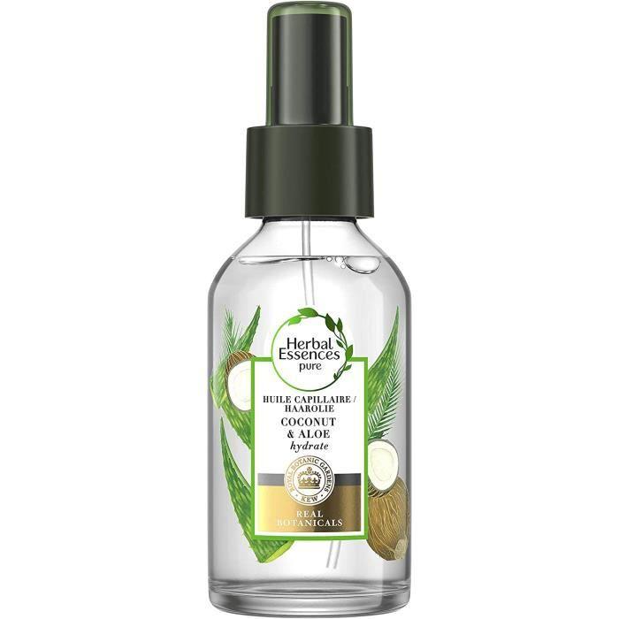 Herbal Essences, Huile Capillaire, à L'Huile de Noix de Coco et à l'Aloe, Hydrate les Cheveux, 100 ml