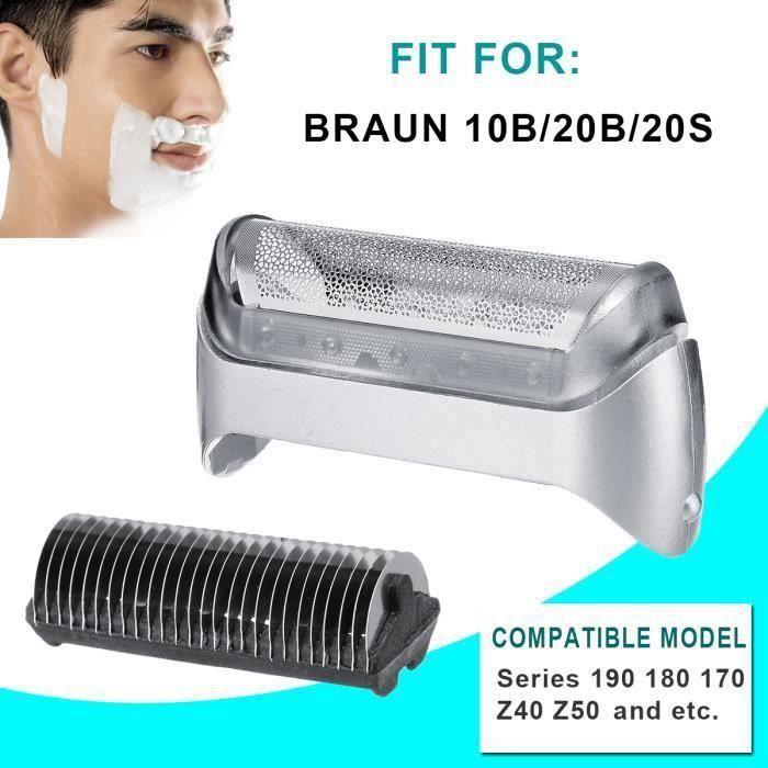 Shaver Feuille Rasoir Grille Rasage et Lames Pour Braun 10B 20B 20S Série 190 180 170 Z40 Z50 ma46984