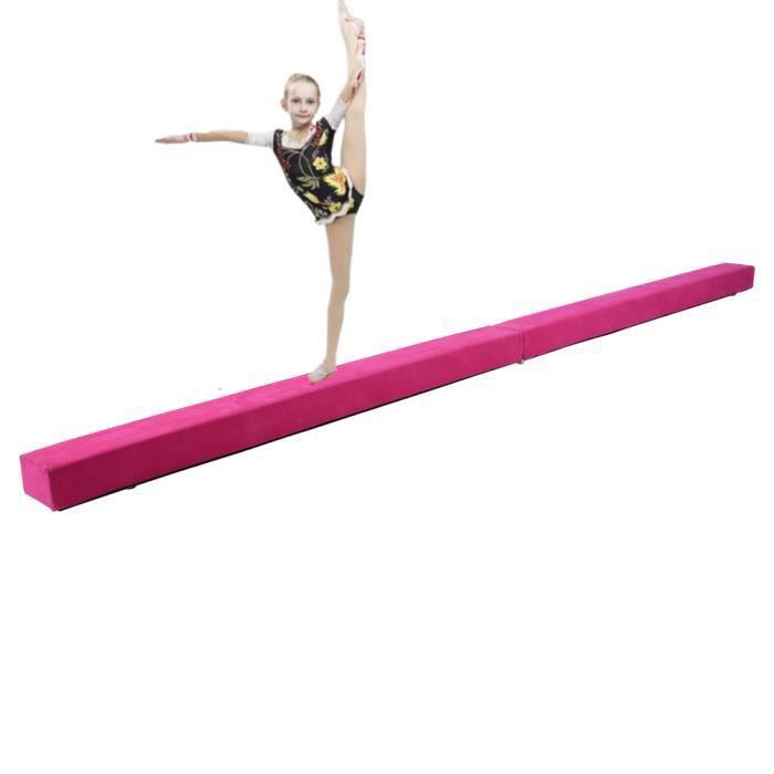 Pourtre de Gymnastique Pliable, Poutre d'Équilibre de Gymnastique, Équipement d'Exercice de Sport d'Équilibre
