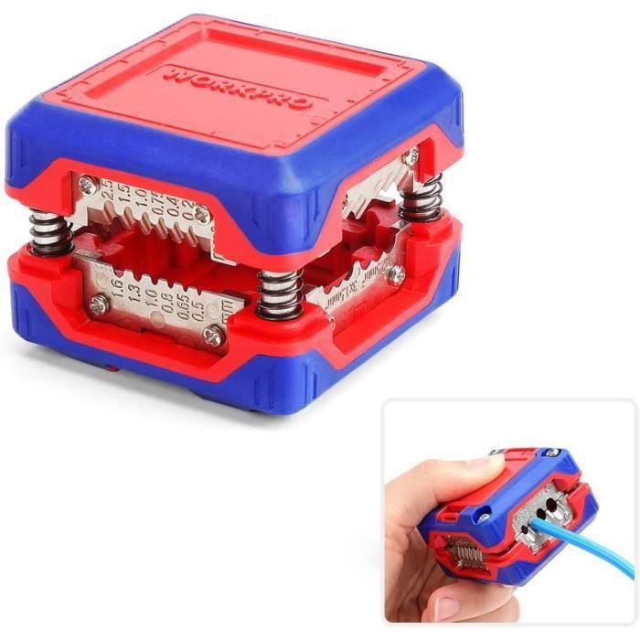 Dénudeur Pince à Dénuder Innovante,Outil de Dégainage pour Câble Massif 6-24 AWG,SAT/RG6,RG59 Câble Basse Tension Universel 4-16 mm²