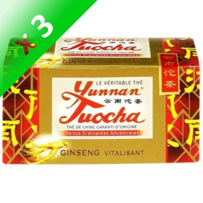 [LOT DE 3] Yunnan Tuocha thé au ginseng 40g