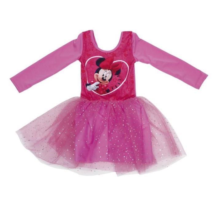 DISNEY Tenue de Danse Minnie Mouse Ballet Pour Enfants de 2, 4 et 6 ans avec manches