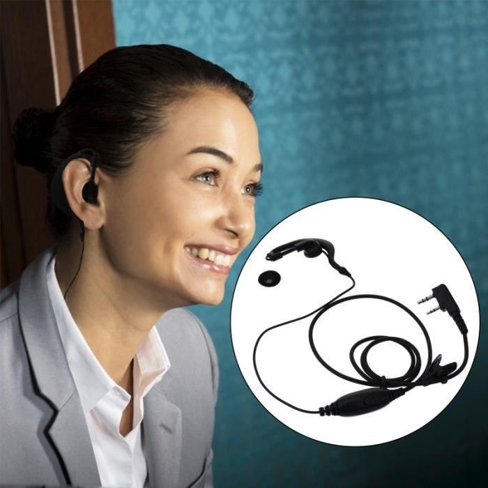 2 Pièces Casque Premium Robuste Écouteur intercom - kit communication confort conducteur passager