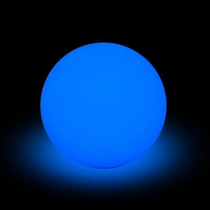CDaffaires lampe solaire boule pe 8 led multicolore ø40cm