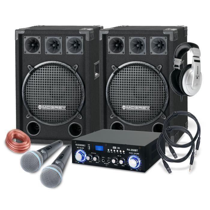 McGrey DJ système de karaoké Party-2000 1200W
