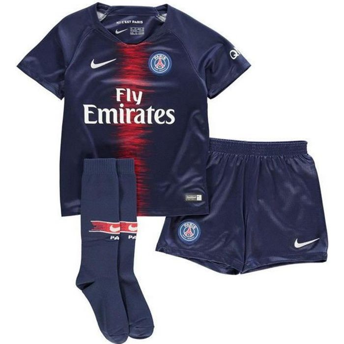 Mini-Kit Officiel Enfant Nike Paris Saint-Germain PSG Saison 2018-2019