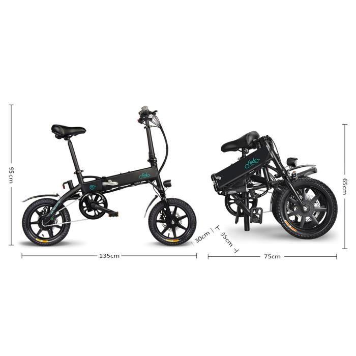 Vélo électrique Ebike pliant-FIIDO D1-Velo Assistance Electrique Cyclomoteur E-Scooter Adulte-280.8W-25 km/h-7.8Ah LCD pliable 14-