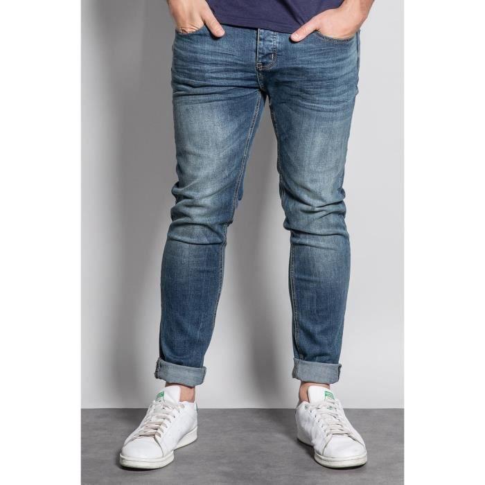 DEELUXE Jeans slim effet délavé NESTOR Stone Used