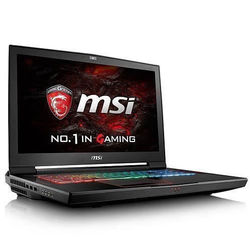 Msi pc portable gamer titan gt73vr 7re 493fr 17.3 ram 16 go core i7 7700hq stockage 1.256 to ssd gtx 1070