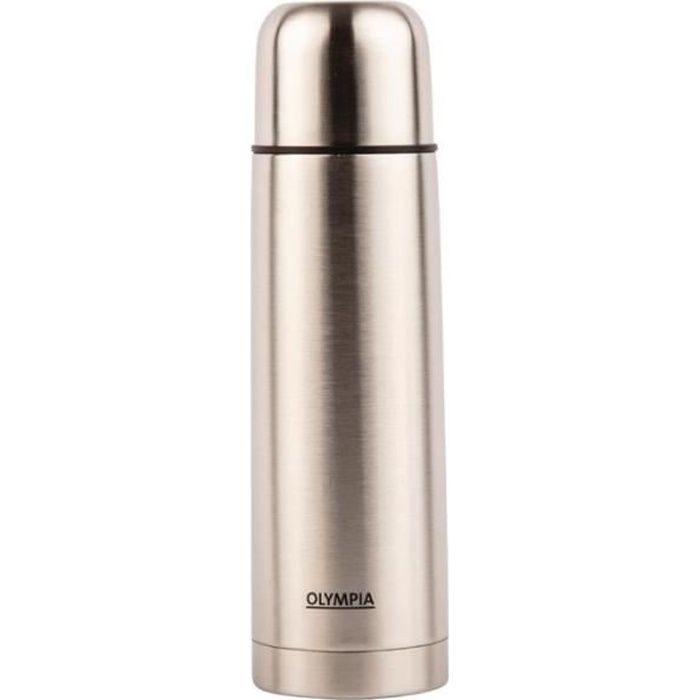 Bouteille Thermos Inox - 1 Litre - Olympia - Inox - CN696 100 cl