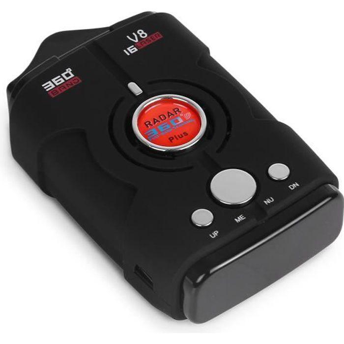 Détecteur de radar de voiture Détecteurs de vitesse pour voiture V8 X K Ku Ka
