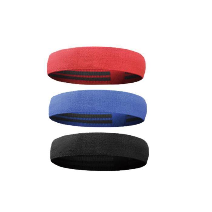 3pcs anti-dérapant hanche élastique bande ceinture de résistance de musculation pour la jambe exercices levée fesses actif squats