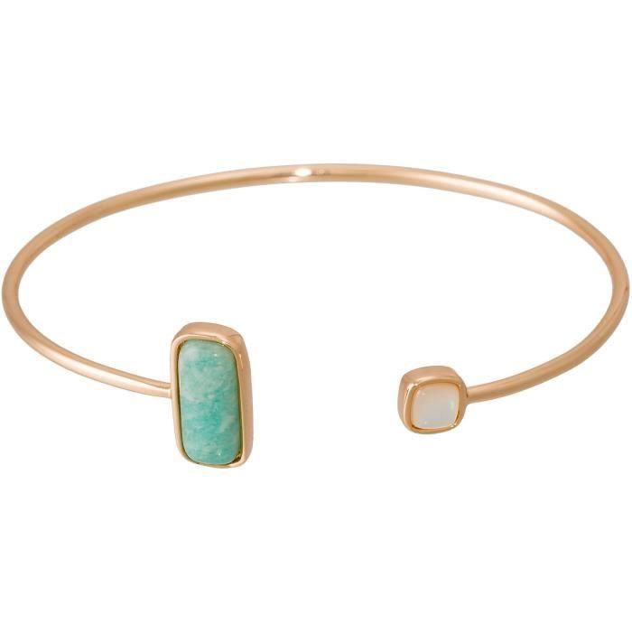Bracelet -Dorine- Amazonite et Nacre