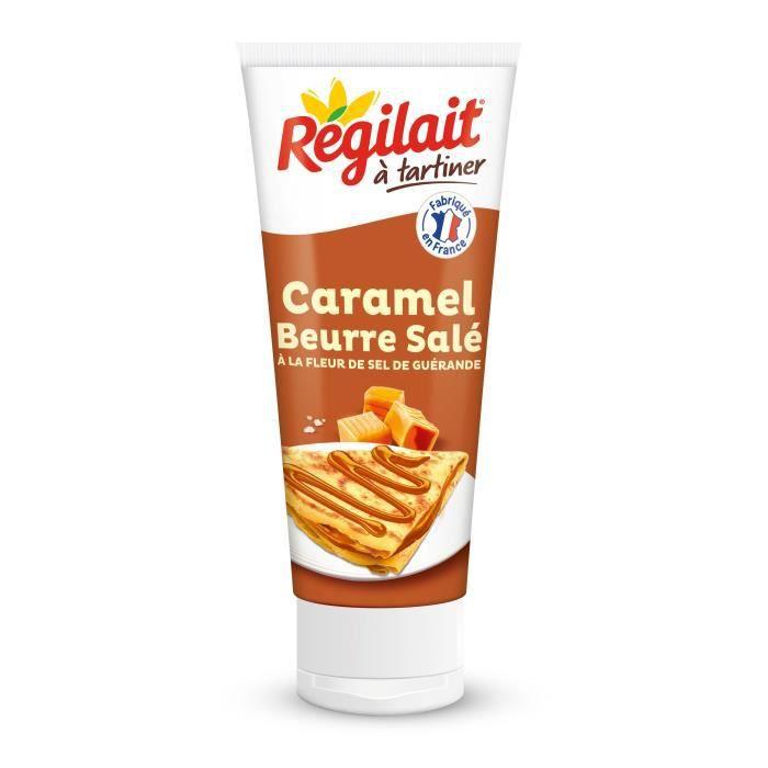 REGILAIT à tartiner Caramel Beurre salé à la fleur de sel de Guérande - En tube - 300 g