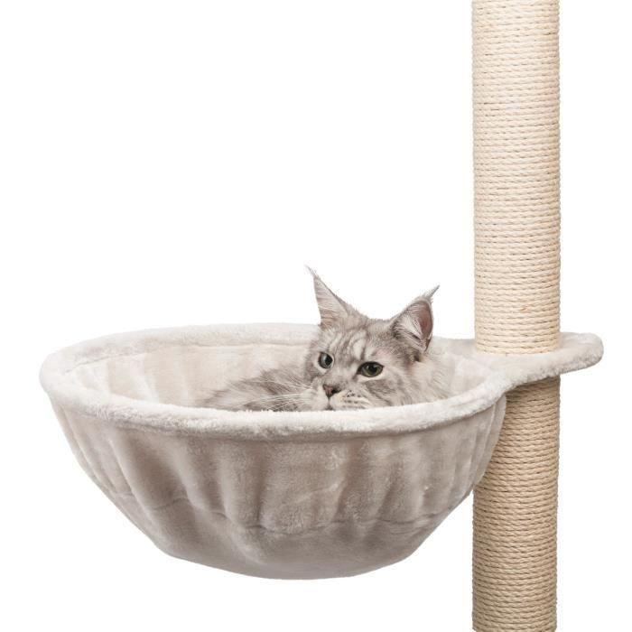 TRIXIE Sac confort XL pour arbre à chat - Gris clair - Pour chat