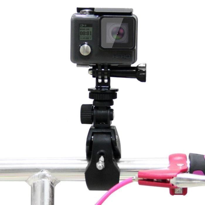 Fixation guidon GoPro moto Support vélo avec trépied et vis HERO6 5-5 Session 4 4-3 3-2-1 Xiaoyi appareils d'action Noir