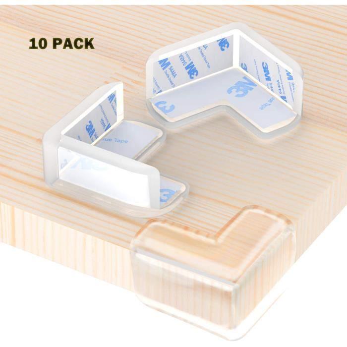 YOLISTAR 10pcs Protection Coin de Table - Protections d'angles Transparent - Plus Grande Taille et Plus Forte adhérence Doux