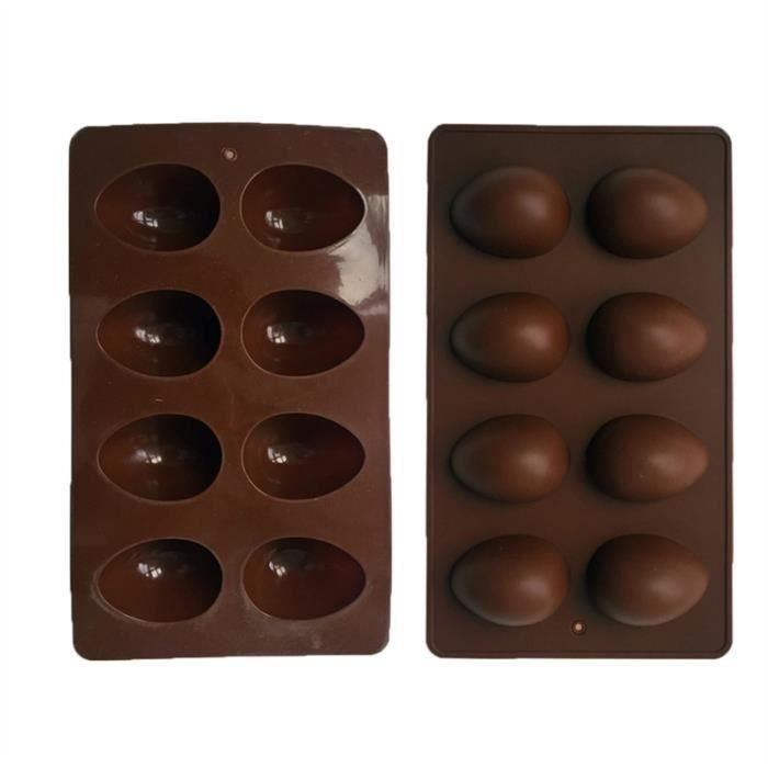 8 Cavité œuf de Pâques Lapin Panier à fleurs en silicone Jelly Pâtisserie Chocolat Moule