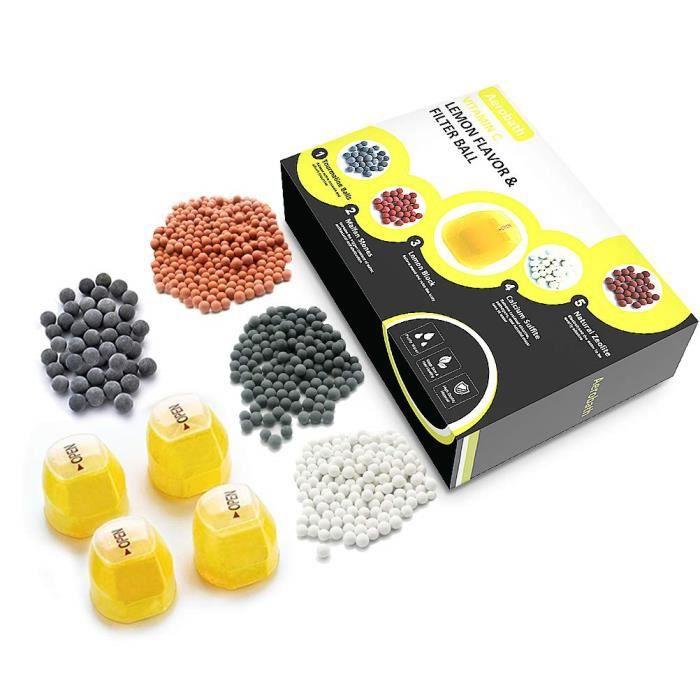 Royalta Recharge de filtre de douche vitamine C 6 mois Lot de 6 blocs de vitamine C pierres de rechange et visages de pomme de douche