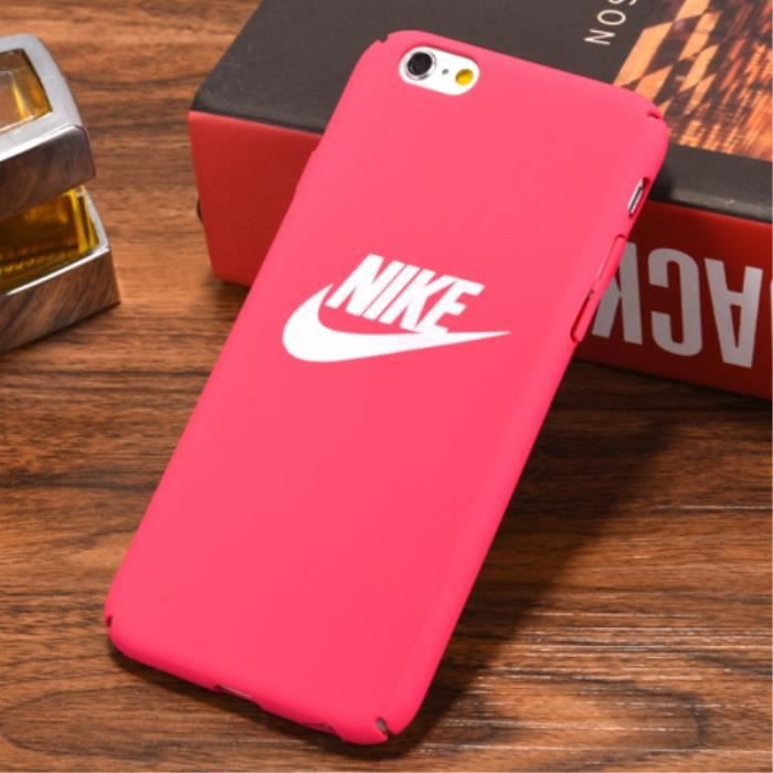 nike coque iphone 6 6s rose rouge logo