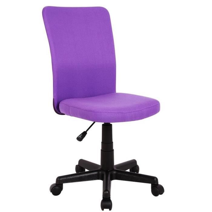 chaise de bureau violette myco01725 achat vente chaise de bureau violet soldes cdiscount. Black Bedroom Furniture Sets. Home Design Ideas