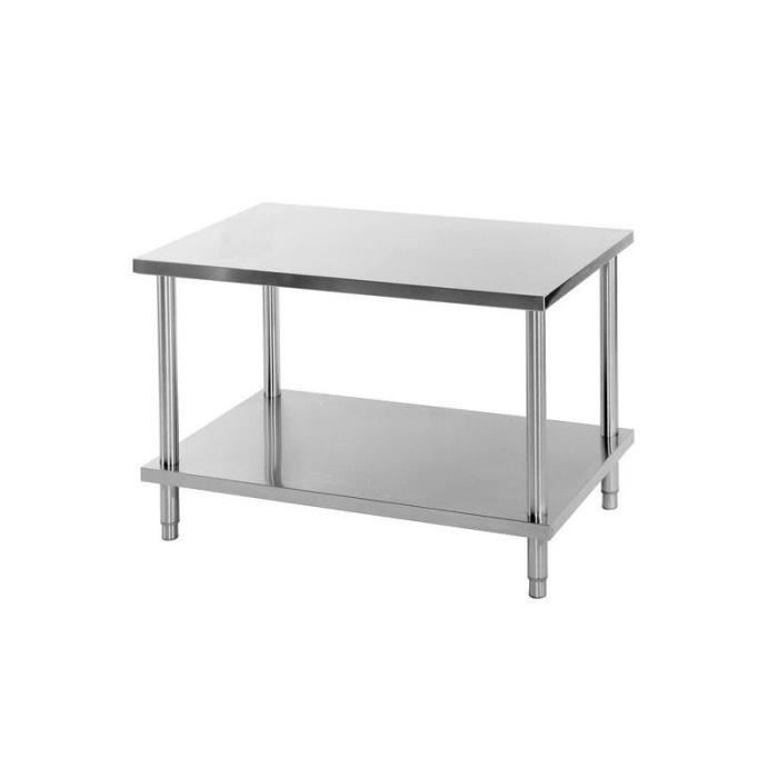 Table inox centrale 600 x 800 achat vente table de for Cuisine table centrale