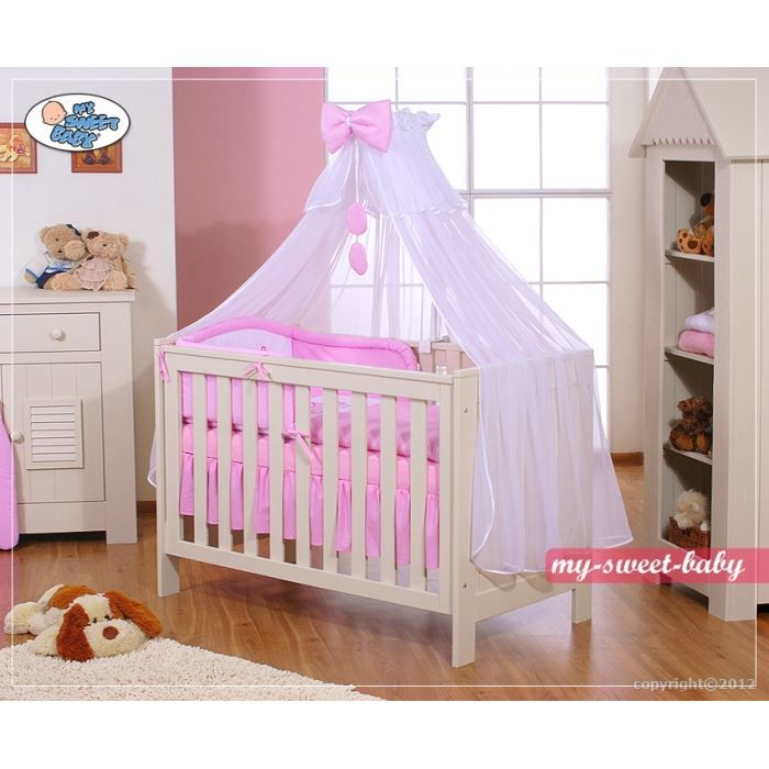 parure de lit b b little princess rose avec ci achat vente parure de lit b b. Black Bedroom Furniture Sets. Home Design Ideas