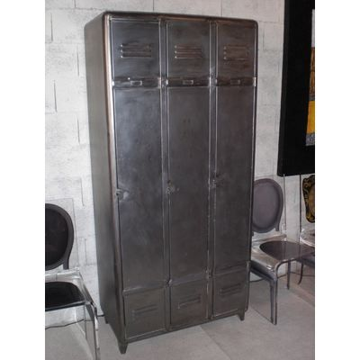 vestiaire industriel m tal achat vente armoire de chambre vestiaire industriel m tal cdiscount. Black Bedroom Furniture Sets. Home Design Ideas