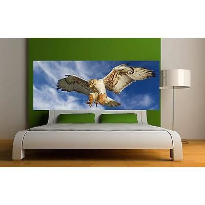Sticker t te de lit d coration murale aigle r f achat vente stickers cdiscount for Decoration tete de lit