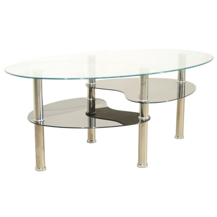 Table basse noir game achat vente table basse table basse noir game verre - Table basse en verre habitat ...
