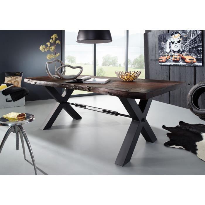 TABLE À MANGER SEULE Table à manger 220x110cm - Fer et Bois massif d'ac
