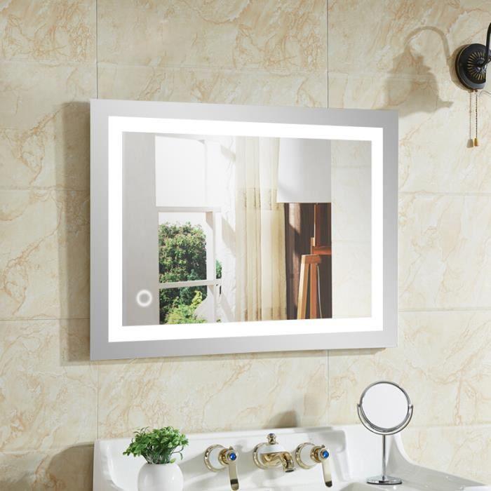 Nouvelle Miroir Salle Bain avec éclairage Intégré LED 60*80cm