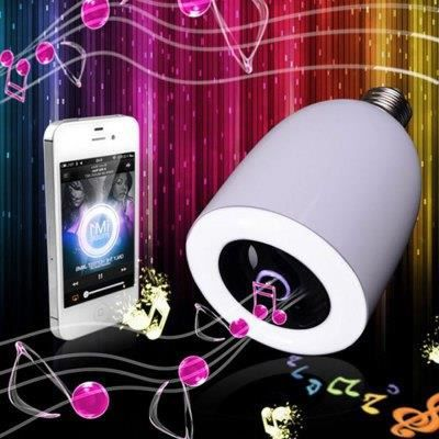ampoule led bluetooth avec enceinte smartphone achat vente ampoule intelligente cdiscount. Black Bedroom Furniture Sets. Home Design Ideas