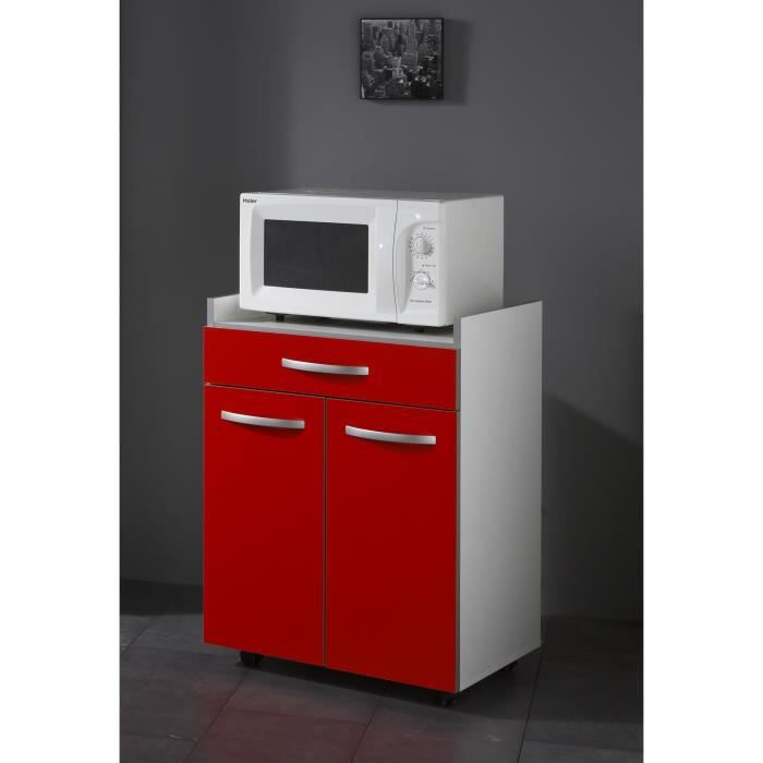 harmony meuble bas micro ondes 60 cm rouge achat. Black Bedroom Furniture Sets. Home Design Ideas