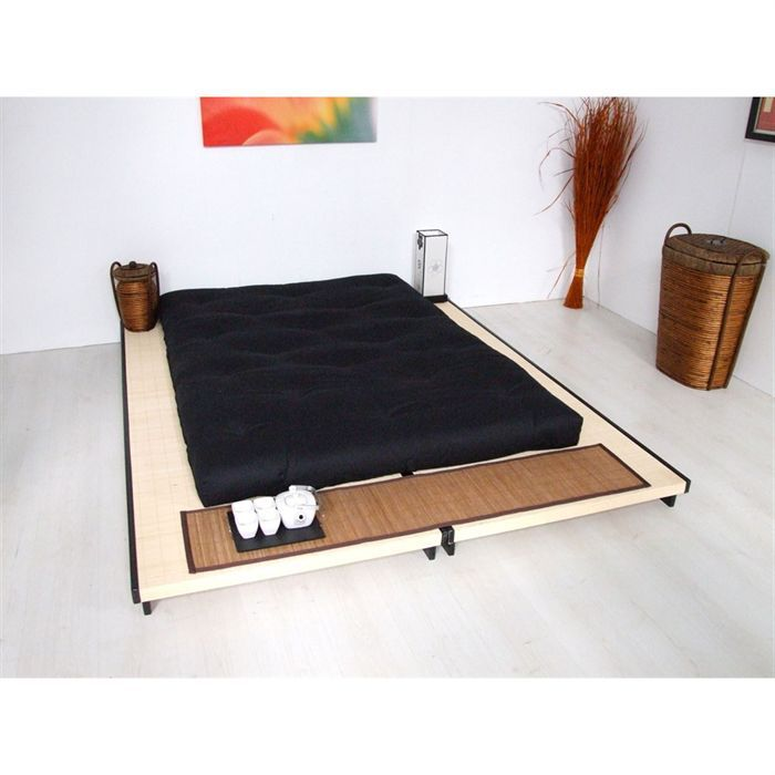 matelas futon coton 140 x 190 x 12 cm achat vente. Black Bedroom Furniture Sets. Home Design Ideas