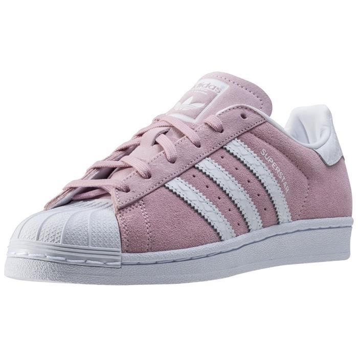 Baskets adidas Superstar W Suede, Chaussures Femme rose